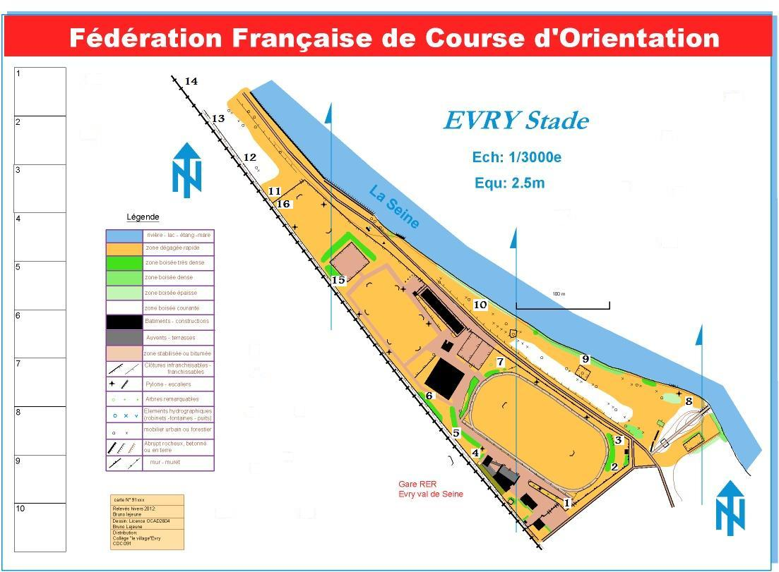 Sport - course d'orientation - FFCO - Stade Evry bords de Seine